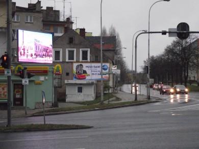 Telebim skrzyżowanie Podgórnej, Lwowskiej,Zielona Góra