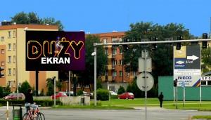 Telebim skrzyżowanie Al. Konstytucji 3 Maja i Al. Jana Pawła II,Leszno