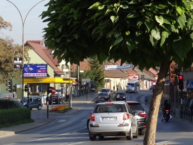 Telebim koło Hali Targowej,Bochnia