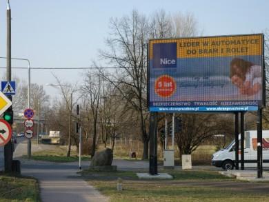 Telebim KIERUNEK WARSZAWA - Wojska Polskiego/Miry Sygetyńskiej,PRUSZKÓW