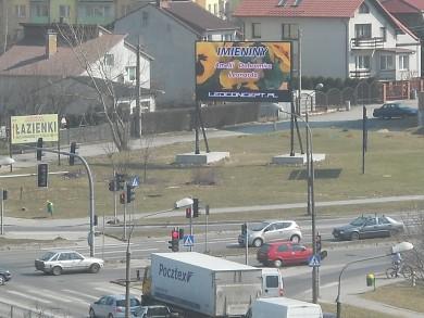 Telebim Jaworskiego/Warszawska,Kielce