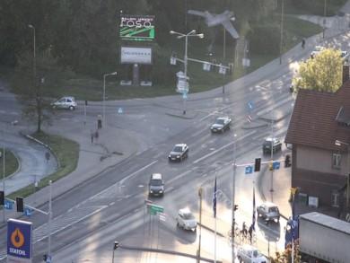 Telebim skrzyżowanie ulic Krotoszyńskiej Towarowei i Raszkowskiej,Ostrów Wielkopolski