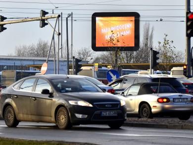 Telebim Dworzec Główny PKS,Poznań