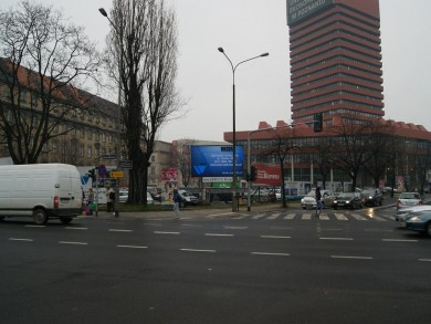 Telebim Aleja Niepodległości/Powstańców Wielkopolskich,Poznań