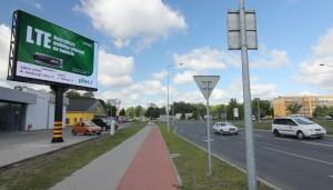 Telebim skrzyżowanie ul. Okrężnej i Al. Konstytucji 3 Maja,Leszno