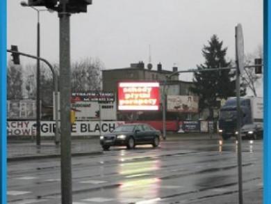 Telebim Skrzyżowanie ulic Polnej i Grudziądzkiej,Toruń