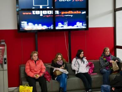 Telebim galeria handlowa Bay&Fly (galeria nowotarska),Nowy Targ