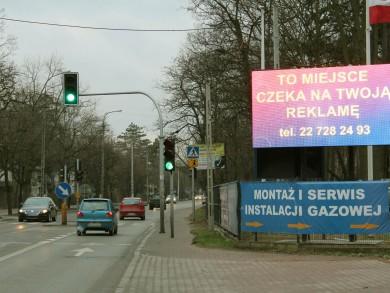 Telebim ul. Królewska 78,Milanówek