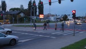 Telebim Włókniarzy/Legionów,Łódź
