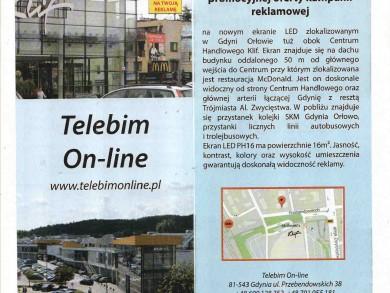 Telebim Centrum Handlowe Klif,Gdynia