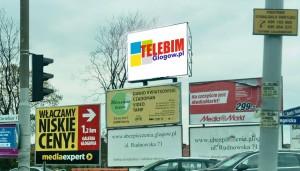 Telebim skrzyżowanie ul Piłsudskiego/Legnicka,Głogów